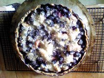 blueberry peach pie, done