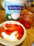 strawberry and stonyfield yogurt