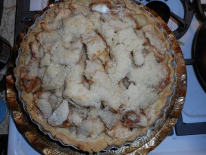 apple pear pie, squash, chicken and dumplings 013