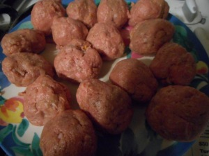 lentil stew, turkey meatballs 002