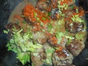 lentil stew, turkey meatballs 005