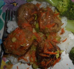 lentil stew, turkey meatballs 006