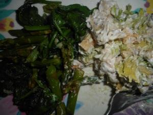 spinach asparagus saute 001