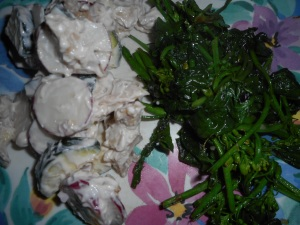 spinach asparagus saute 018