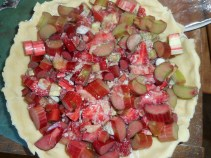 strawberry rhubarb pie 007