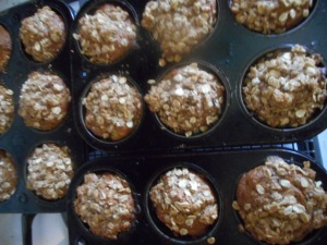 goodbyes and choco chip banana nut muffins 010