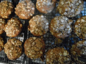 goodbyes and choco chip banana nut muffins 011