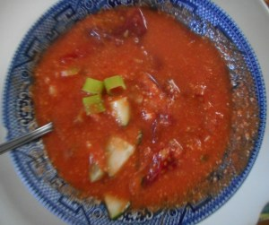 gazpacho and pork steak 012