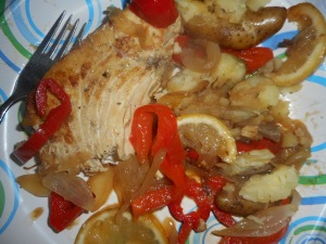 seafood pasta and swordfish 015