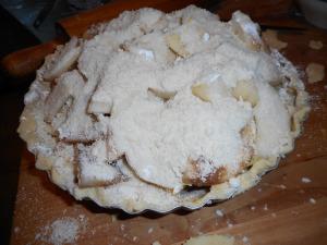 apple pear pie, squash, chicken and dumplings 012