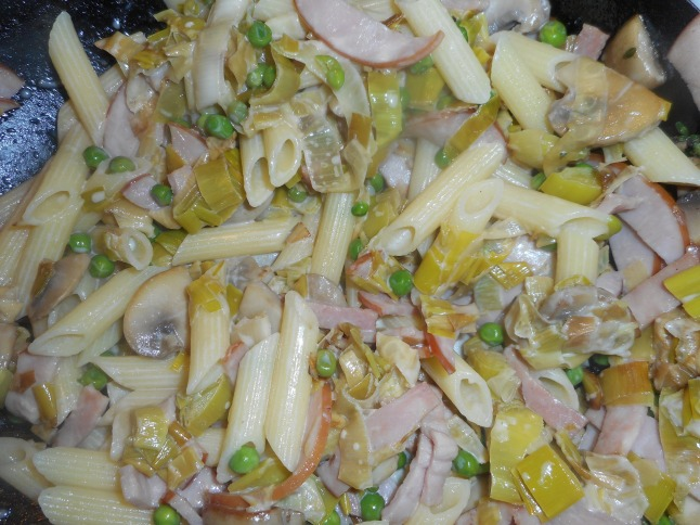 leeks with canadian bacon 003
