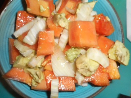 Papaya and fennel salad...healthy and yummy