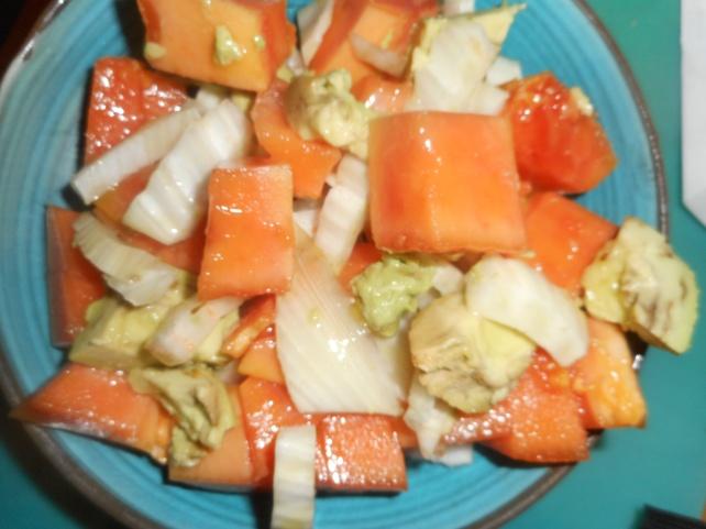 Papaya and fennel salad...healthy and yummy