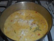 roasted veggies, seafood chowdar 015