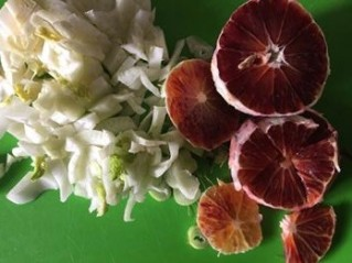 sliced fennel and blood oranges
