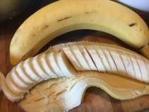 bananas, sliced