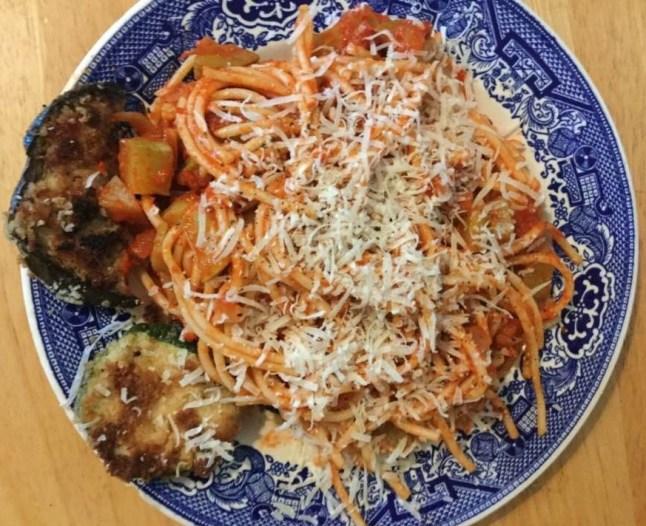 trombolini squash with sauce