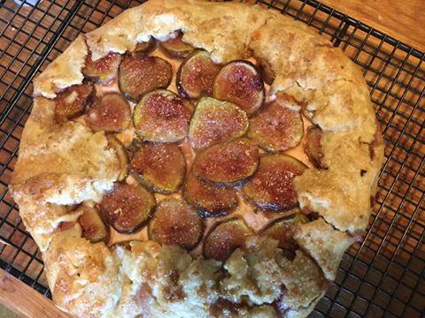 fig galette baked