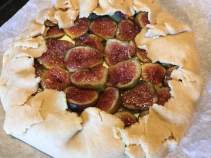 fig galette with crust folded up