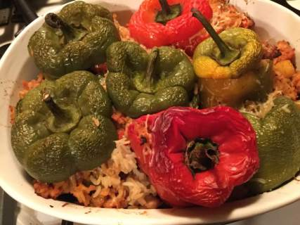 stuffed peppers, baked