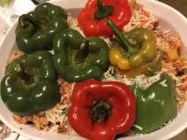 stuffed peppers, unbaked