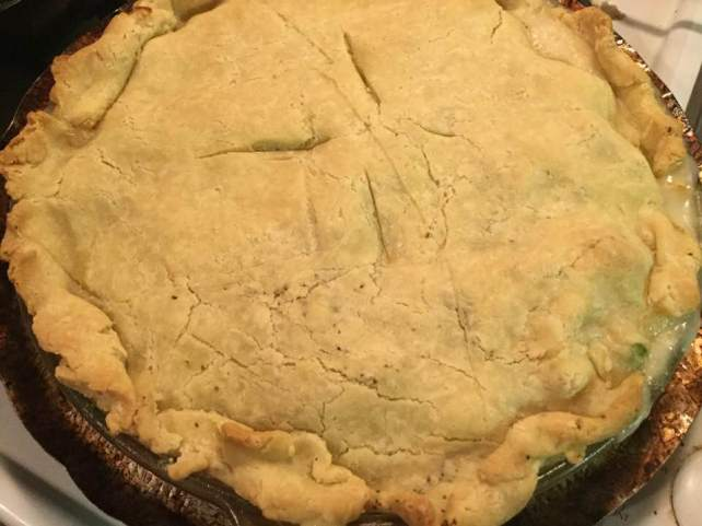 turkey pot pie baked