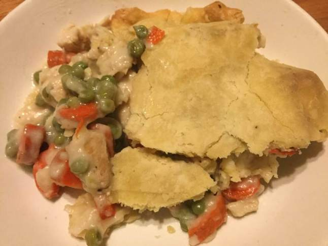 turkey pot pie on plate