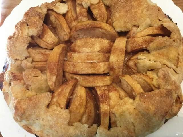apple galette baked