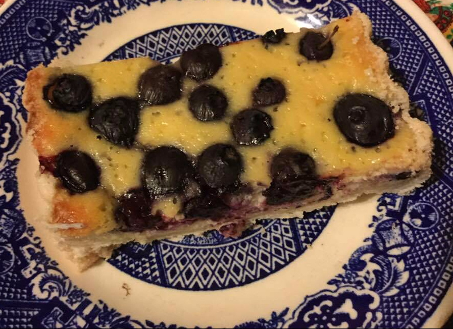 blueberry ricotta tart slice