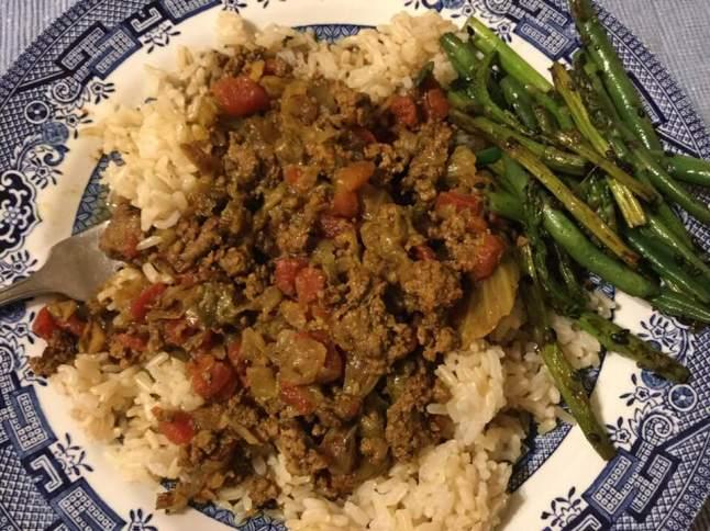 keema and lettuce curry