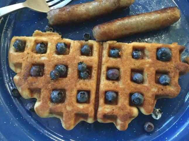 blueberry waffle half