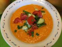 golden gazpacho in bowl