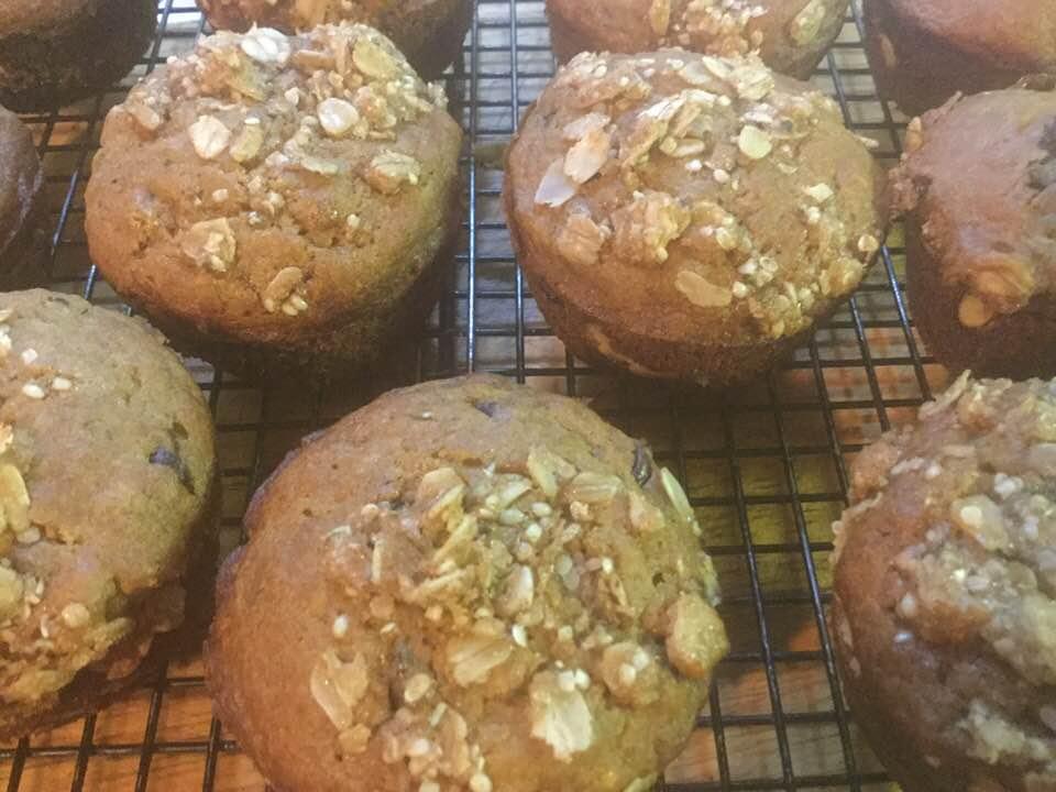 muffins, stuffed, baked