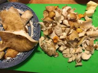mushrooms cut up
