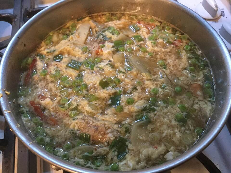 hot and sour soup in pot