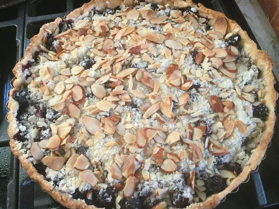blueberry tart baked