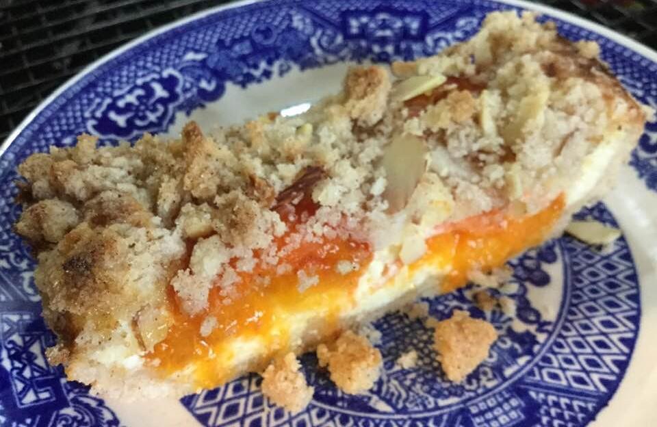 apricot tart slice