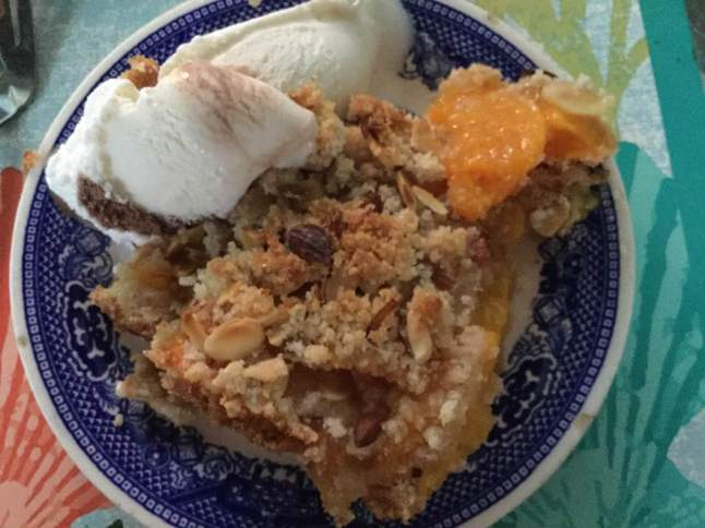 peach pie w ice cream