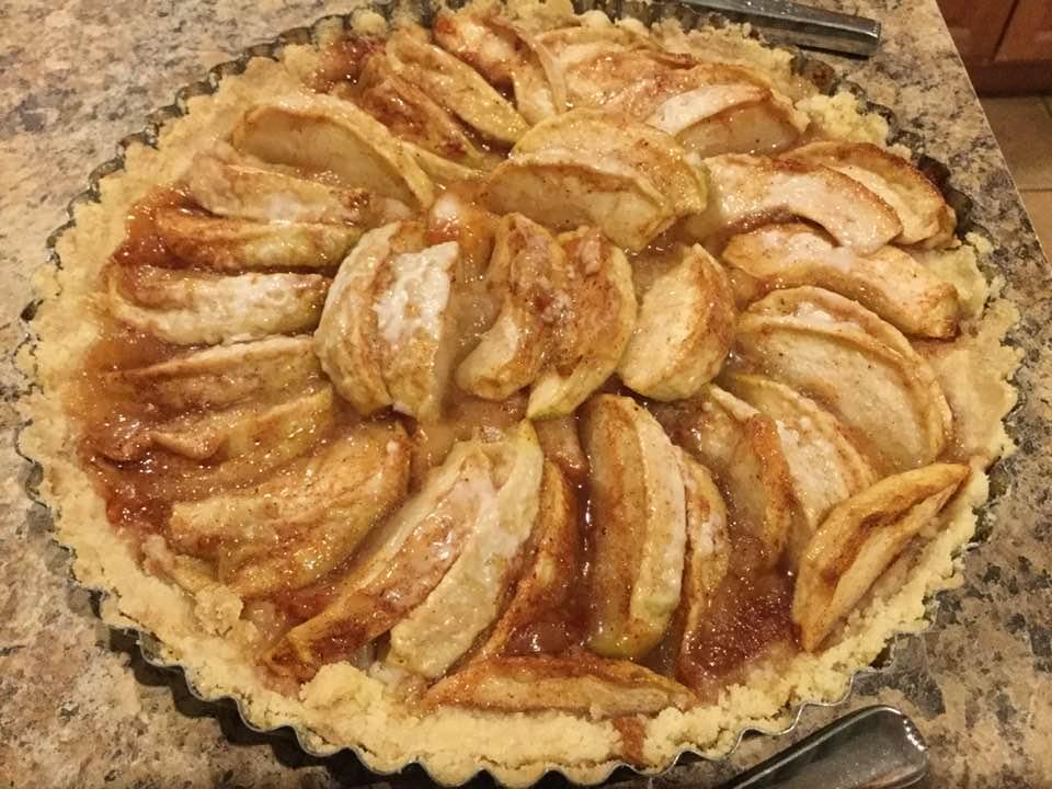 vegan apple tart baked