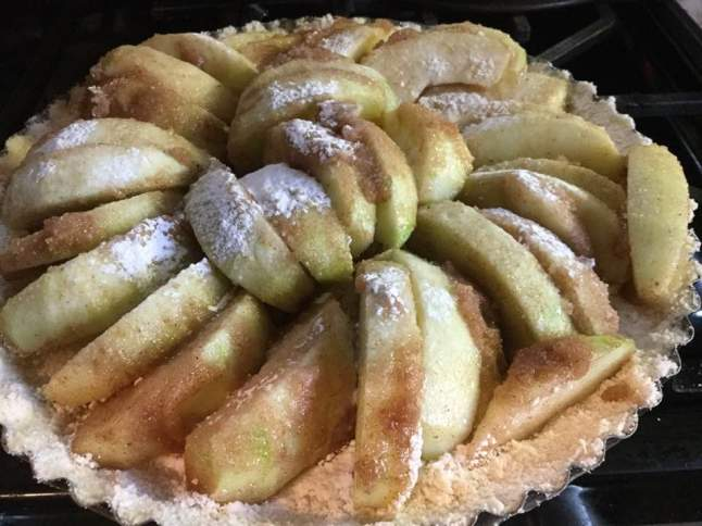 vegan apple tart unbaked
