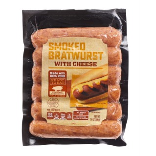 smoked brats with cheese