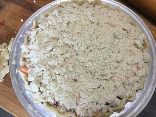apple cranberry crumb pie unbaked