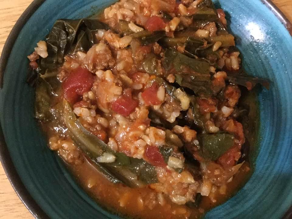 cabbage n rice casserolle