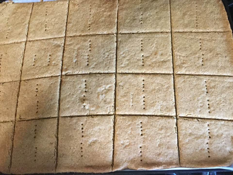 graham crackers out of oven