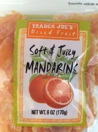 Trader Joe's Dried Fruit SOFT & JUICY MANDARINS Dried Orange Fruit 4 6 OZ  BAGS | Dried fruit, Dried oranges, Orange fruit
